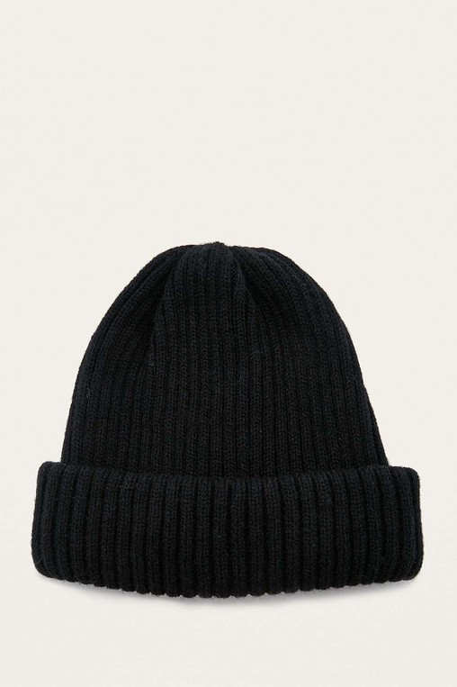4ad2aa0da UO Black Ribbed Beanie by Urban Outfitters