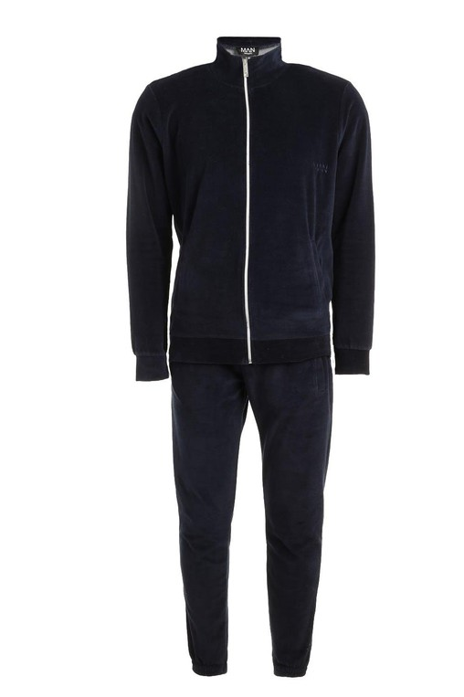 6ec8c609861a Skinny Fit Velvet Tracksuit by boohooMAN — Thread