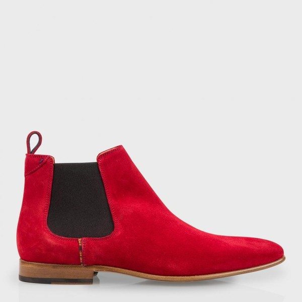 27b3dad8b42 Men's Red Suede 'Falconer' Chelsea Boots ... — Thread