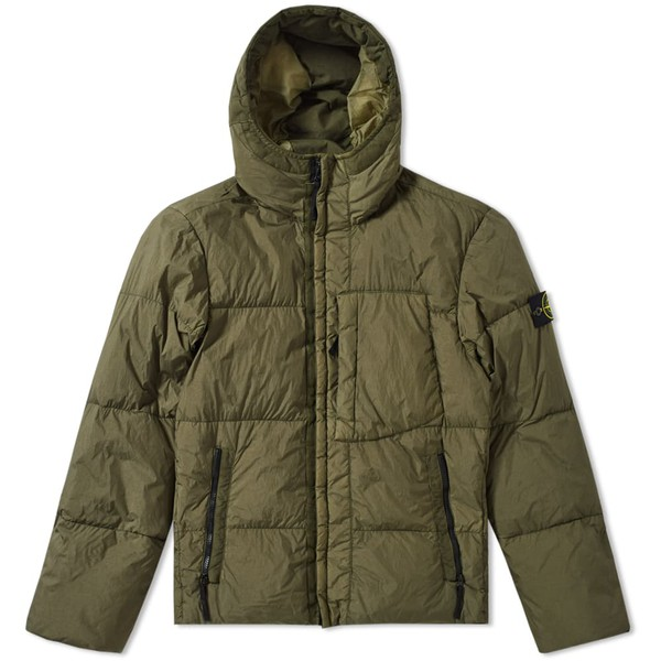 28cc8f3a5 Stone Island Garment Dyed Crinkle Reps Hooded Down Jacket by Stone Island