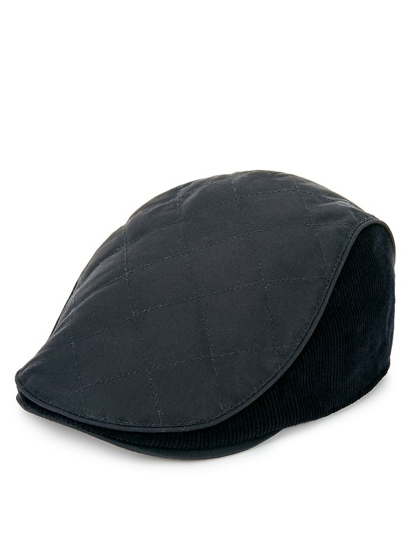 45a64938d Pure Cotton Waxed Quilted Thinsulate™ Flat Cap with Stormwear™
