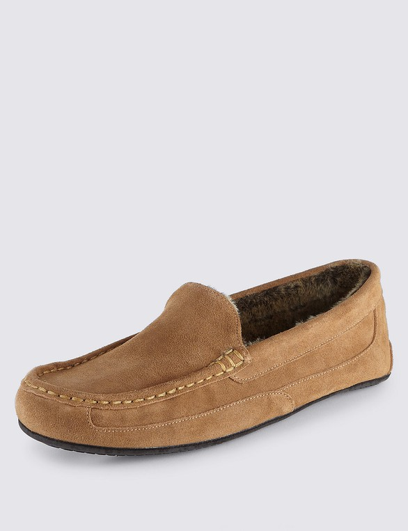 05581988a23 Suede Moccasin Slippers with Thinsulate™ ... — Thread