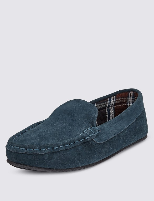 598680c13a4 Big   Tall Freshfeet™ Suede Moccasin Slippers with Thinsulate™