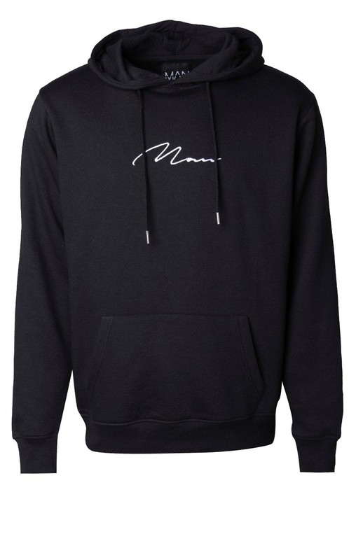 6bef75d57f MAN Signature Embroidered Hoodie by booho... — Thread