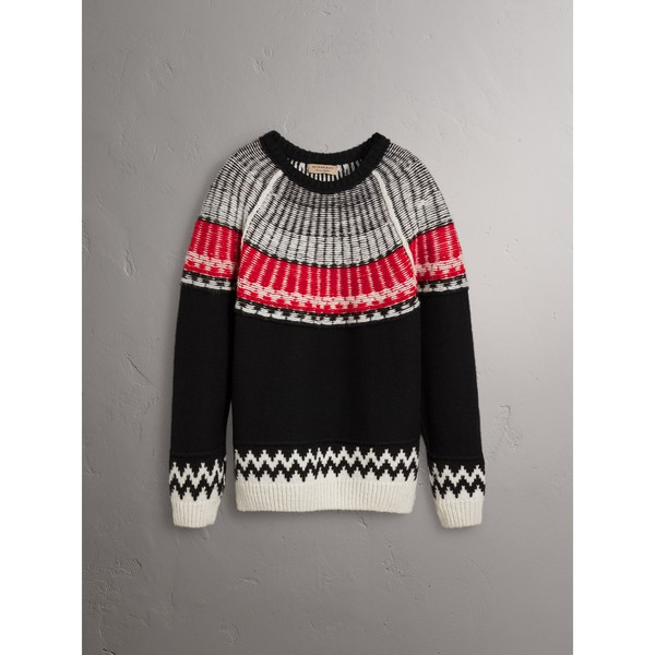 eaed6c412af39b Fair Isle Wool Cashmere Sweater by Burberry — Thread