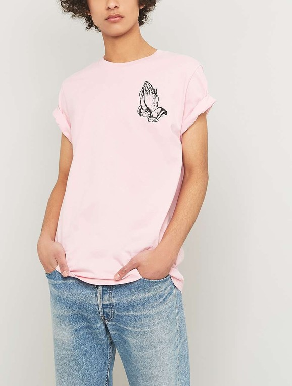 326248bee Praying Hands Pink T-shirt by Urban Outfi... — Thread