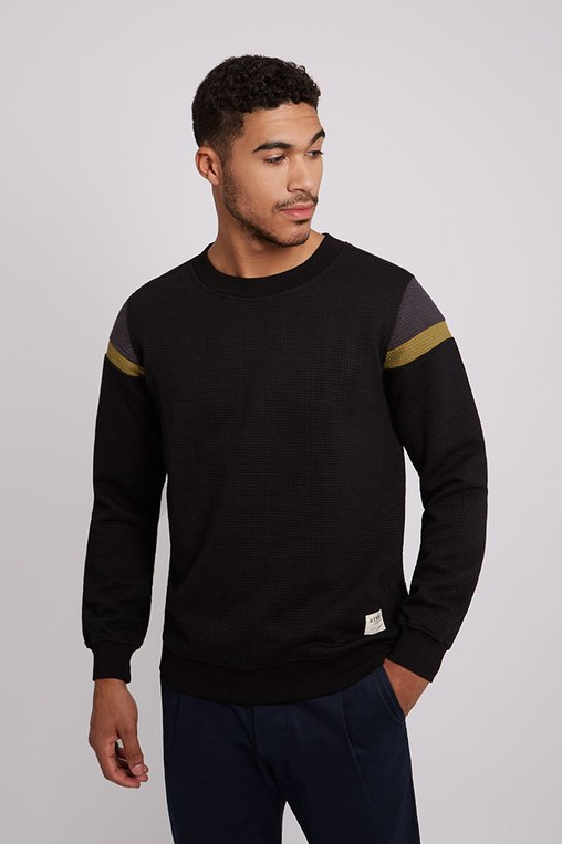 d5e2e93c88 HYMN Quilted Waffle Textured Sweatshirt by HYMN