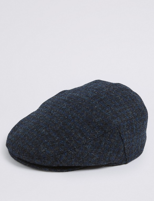 3b7e274f5 Pure Wool Flat Cap with Stormwear™ by Marks & Spencer