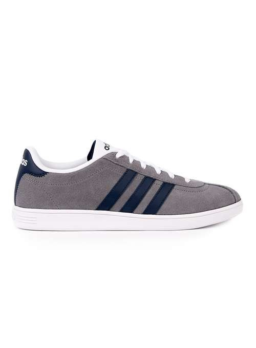 Adidas vl court grey and white trainers
