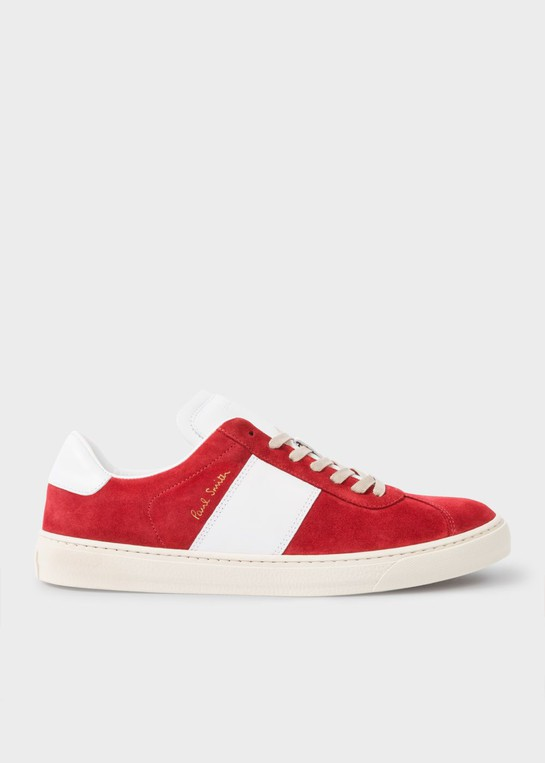 c26f93a50d Men s Red Suede  Levon  Trainers by Paul ... — Thread