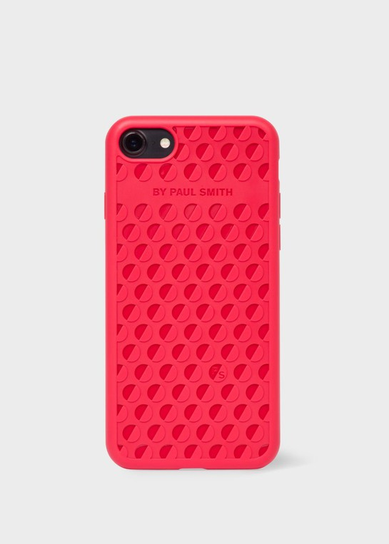 hot sales ed4fa 38dc0 Red Logo-Embossed iPhone 7 Case by Paul Smith