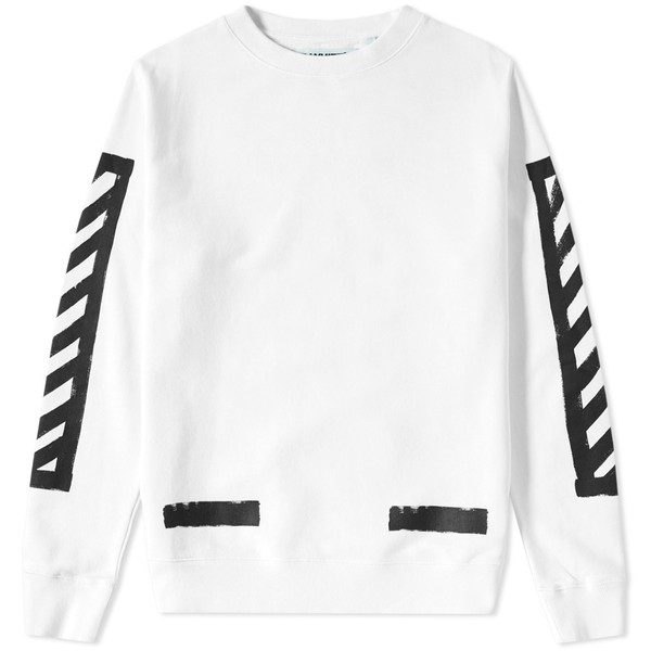 8c685df85 Brushed Diagonals Crew Sweat by OFF-WHITE — Thread