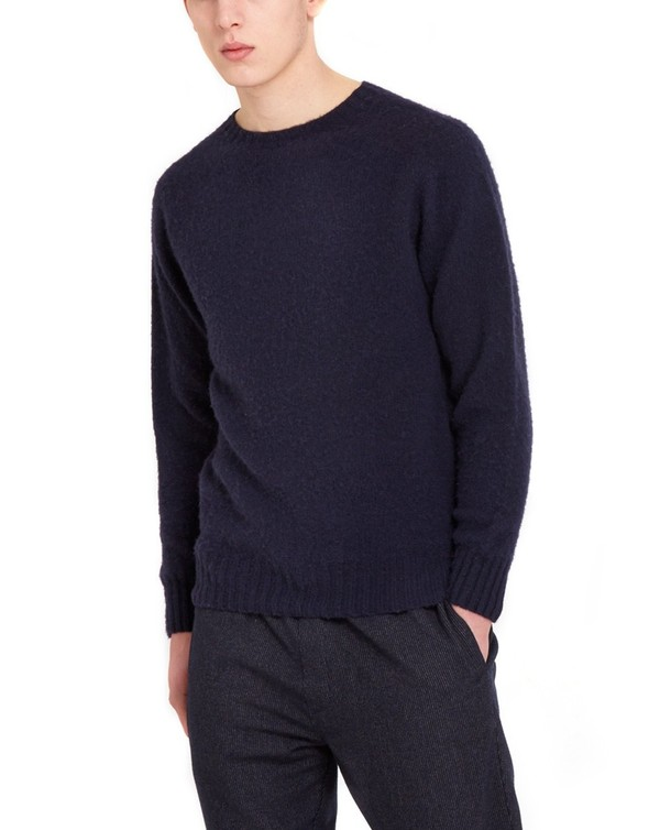 a213835105f8d3 Suedehead Brushed Knit (navy) by YMC — Thread