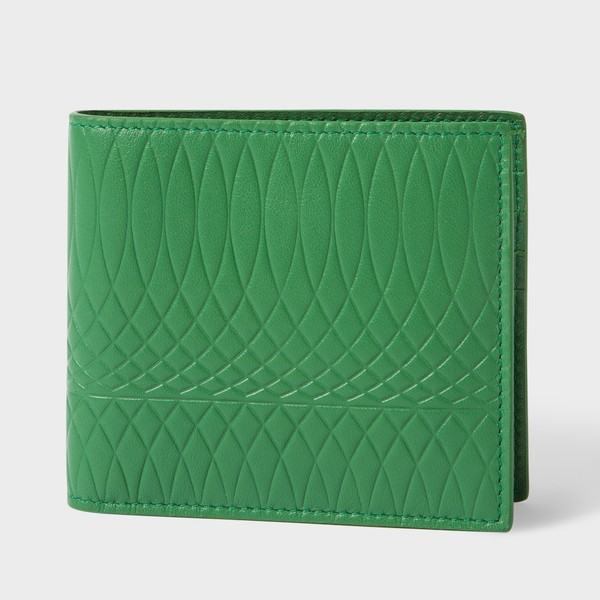 a936bd9bb502 Paul Smith No.9 - Men's Green Leather Billfold Wallet