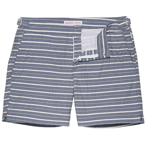 f87aa438fc BULLDOG Navy Found Stripe Mid-Length Swim... — Thread