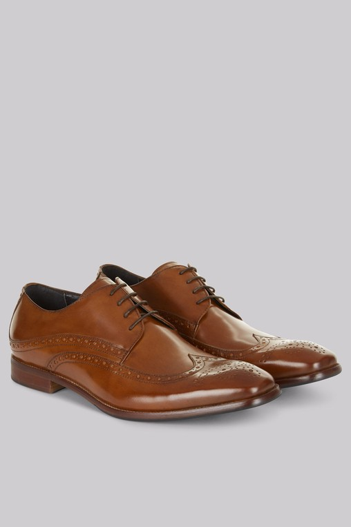 Whitehall Tan Brogues by Moss Bros