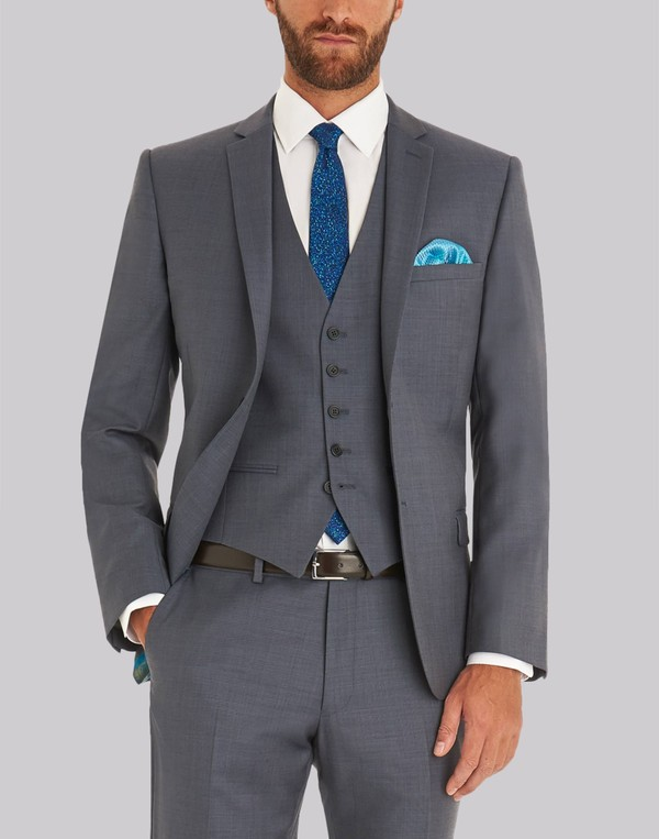 6cc06bb51 Ted Baker Tailored Fit Steel Grey Jacket ... — Thread
