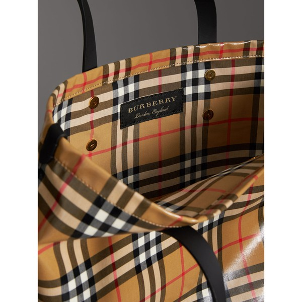 677901ffb89c Large Coated Vintage Check Shopper by Burberry