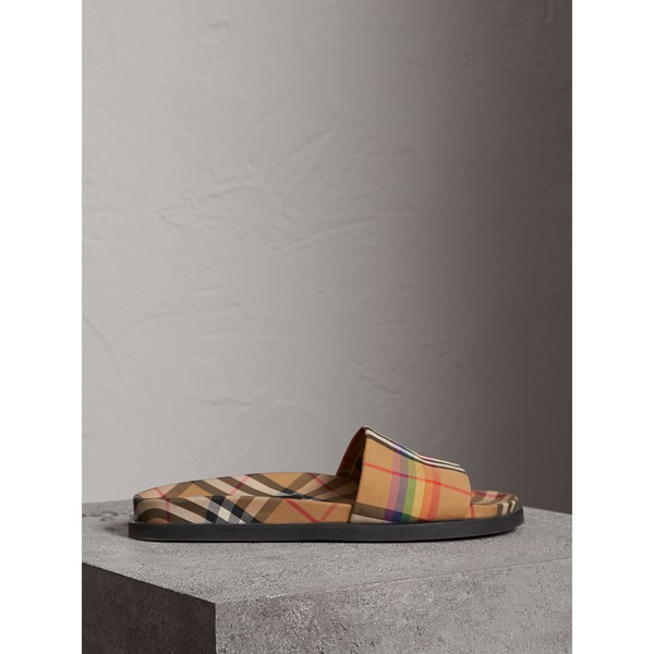 2f69d0ad7 Rainbow Vintage Check Slides by Burberry — Thread