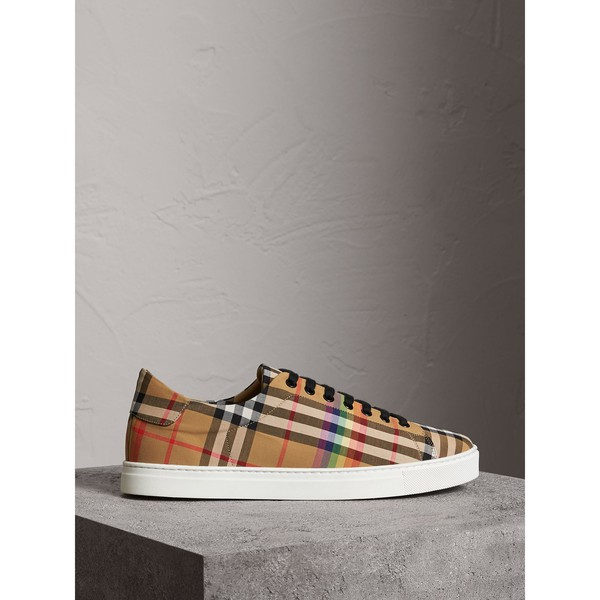 cb2c13a56685 Rainbow Vintage Check Sneakers by Burberry — Thread