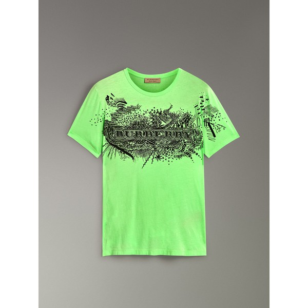 02064495 Doodle Print Cotton T-shirt by Burberry — Thread
