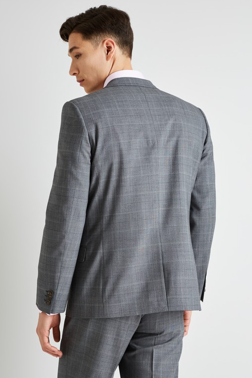4f7cbc92238bd Ted Baker Gold Tailored Fit Grey Glen Check Jacket. £259£59.95