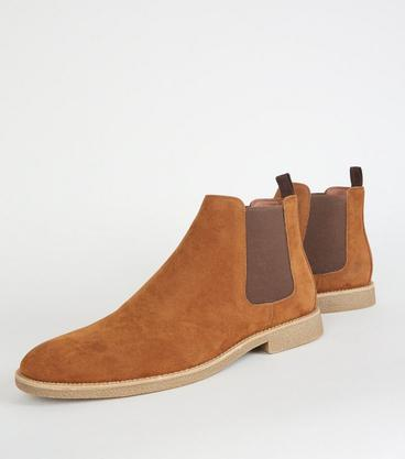 e2ee255a83 New Look. Faux Suede Chelsea Boots