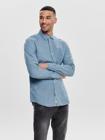 f053e18c99 Only   Sons. Long Sleeve Chambray Shirt