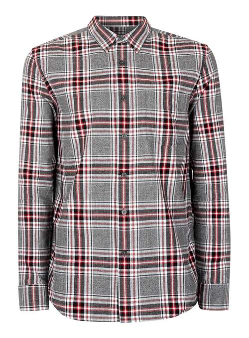 Topman Grey twisted check casual shirt