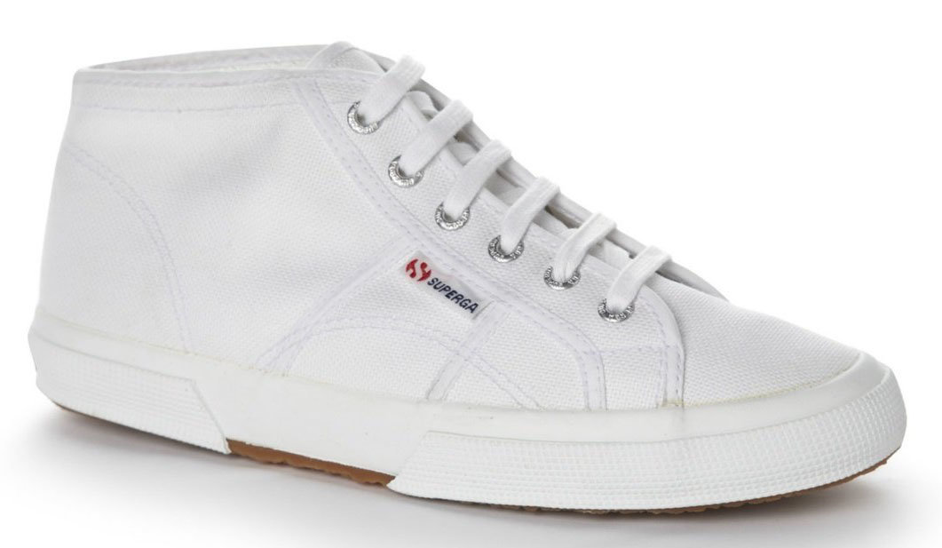 Cotu High White Shoes by Superga