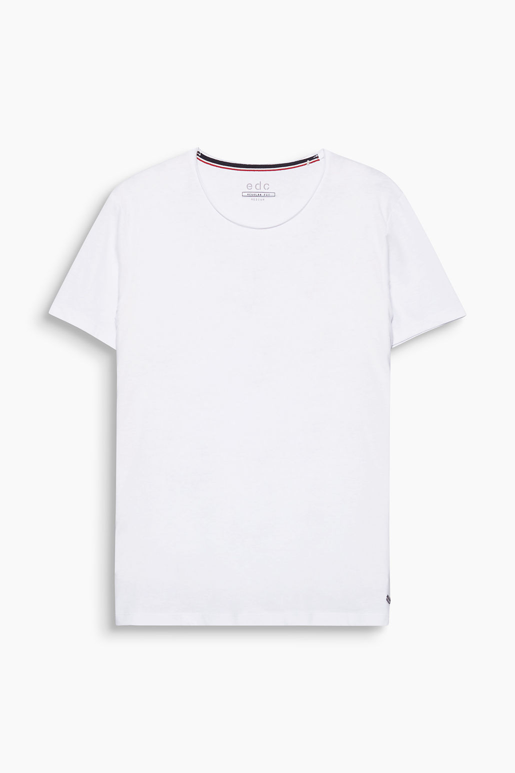 Esprit White 100 Organic Cotton Crew Neck T-Shirt