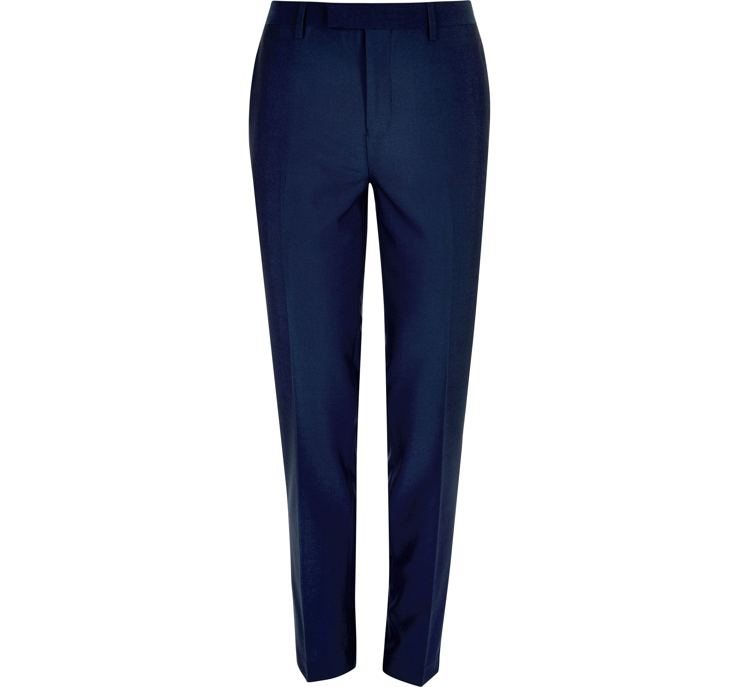 River Island Mens Bright Blue slim suit trousers
