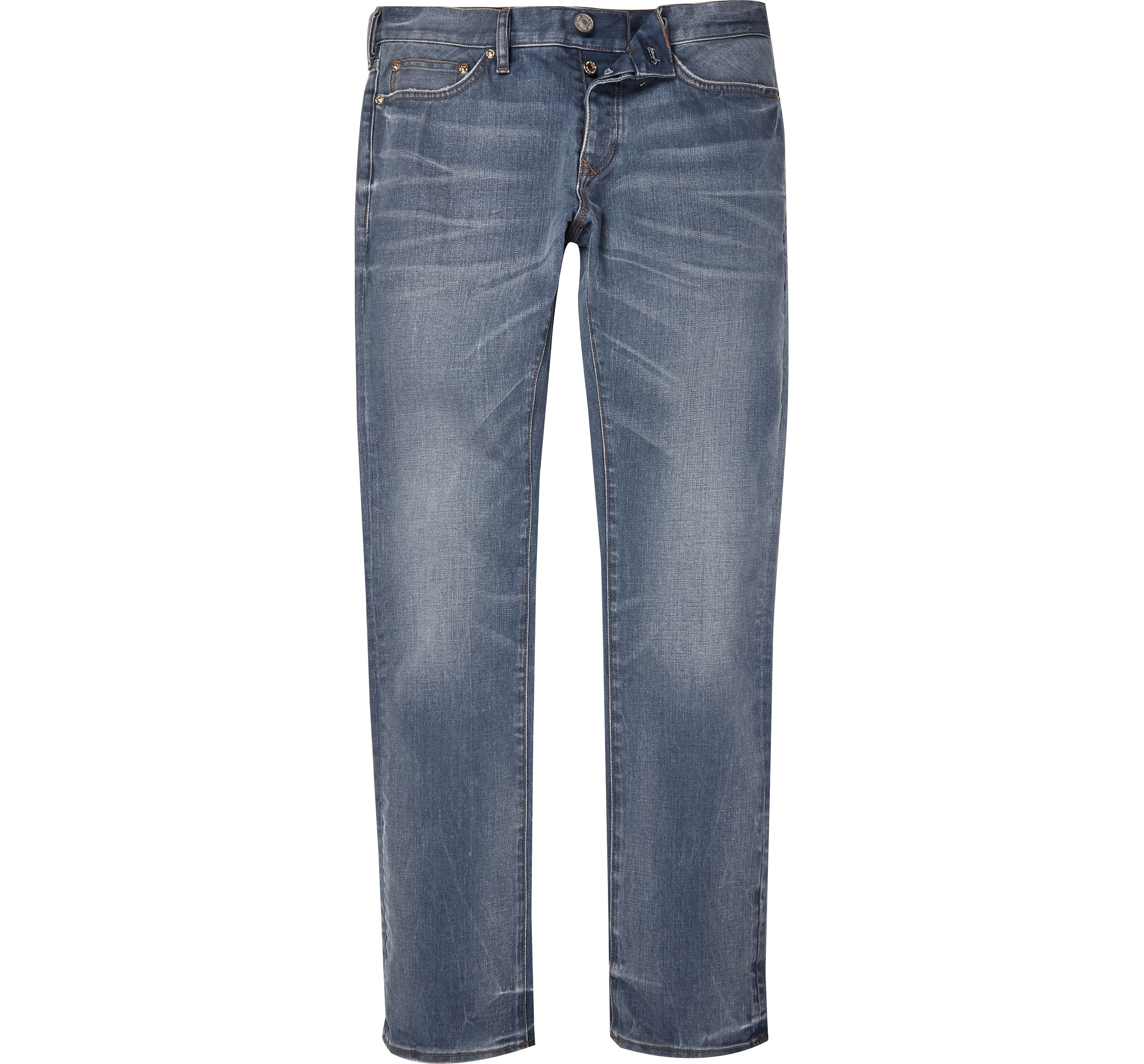 River Island Mens Mid Blue wash Dylan slim fit jeans