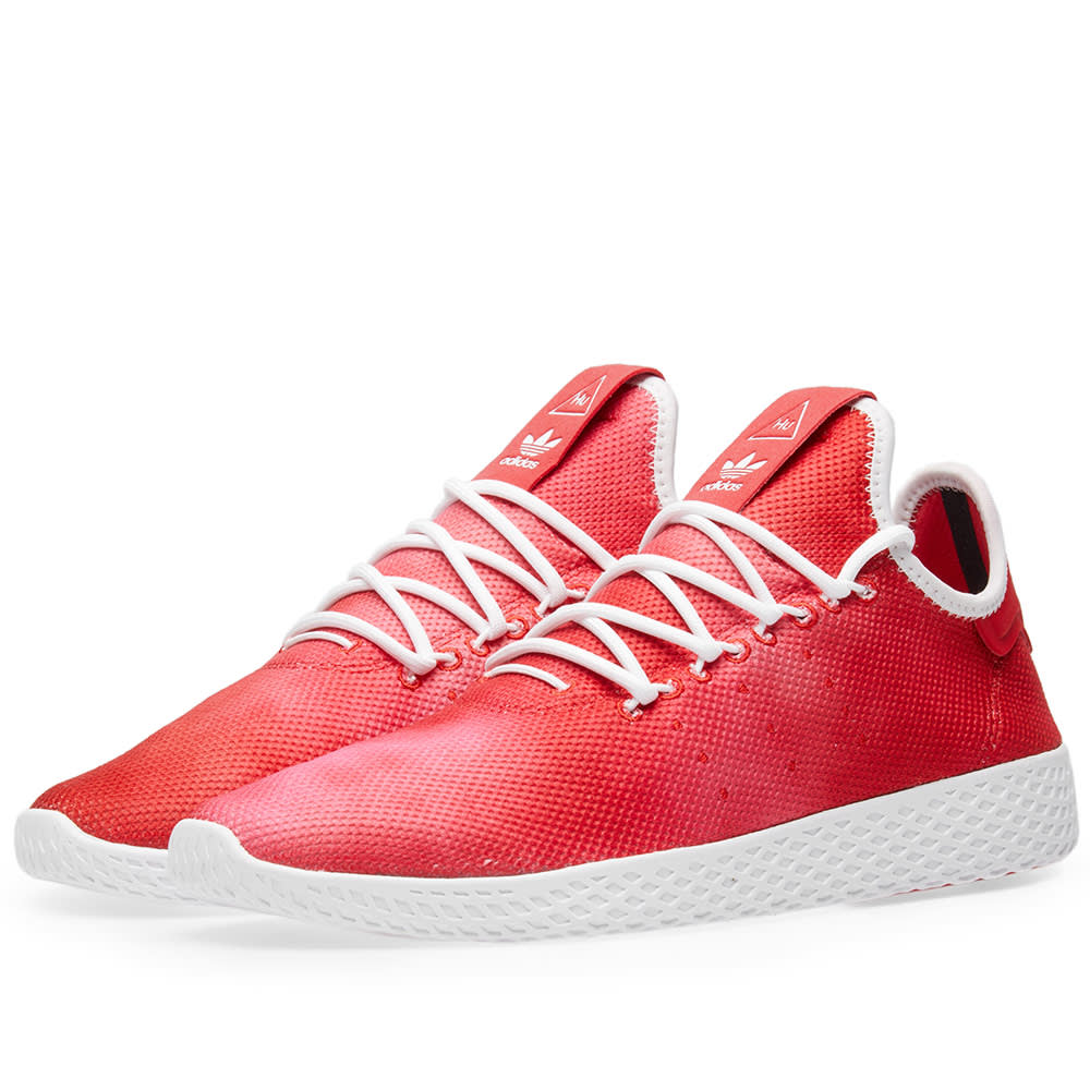 Adidas Scarlet & White x Pharrell Williams Hu Holi Tennis