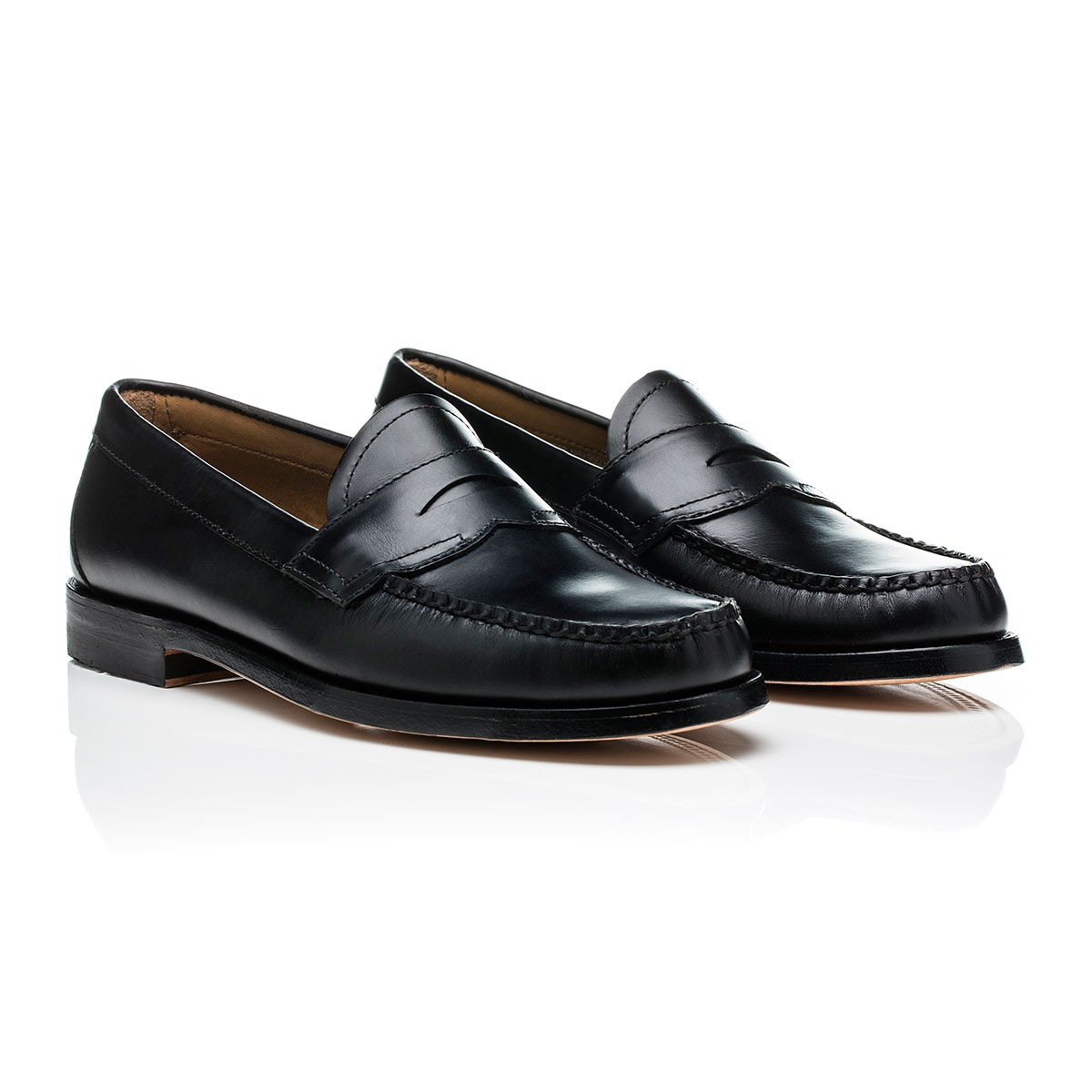 G.H. Bass & Co. Black Horween Leather Weejuns Logan Horween Black Leather