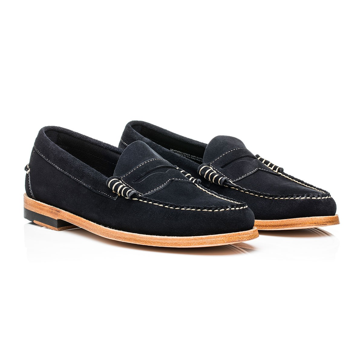 G.H. Bass & Co. Navy Suede Weejuns Larson Stead Suede Navy