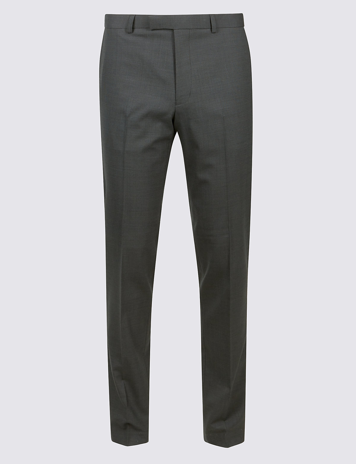 Marks & Spencer Charcoal Textured Modern Slim Fit Trousers