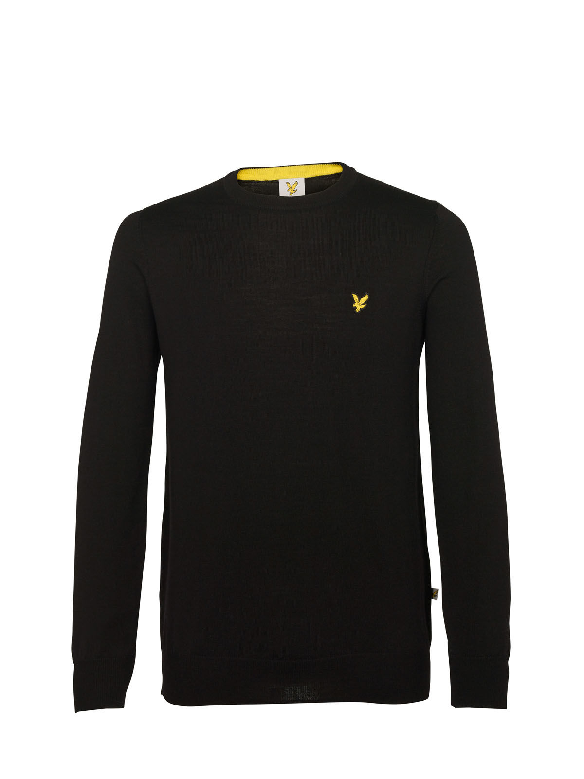 Lyle and Scott True Black Macdui Golf Crew Neck Merino Jumper