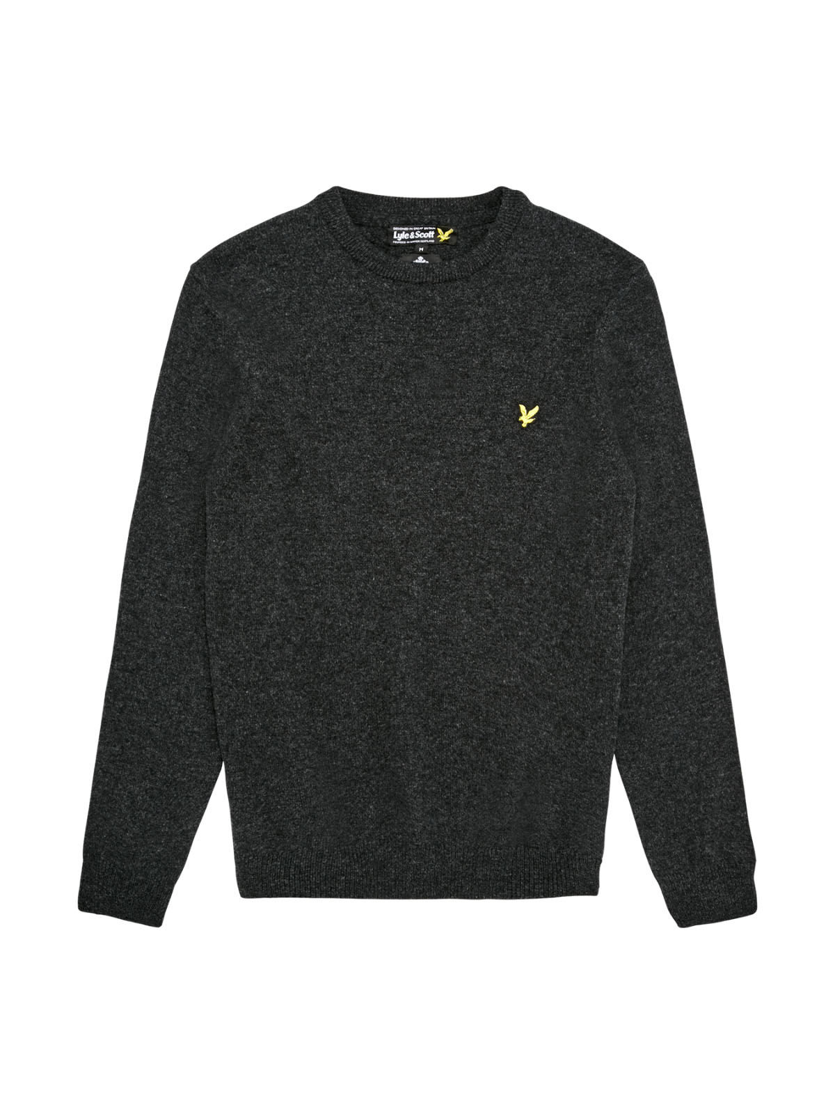 Lyle and Scott Charcoal Marl Crew Neck Lambswool Jumper
