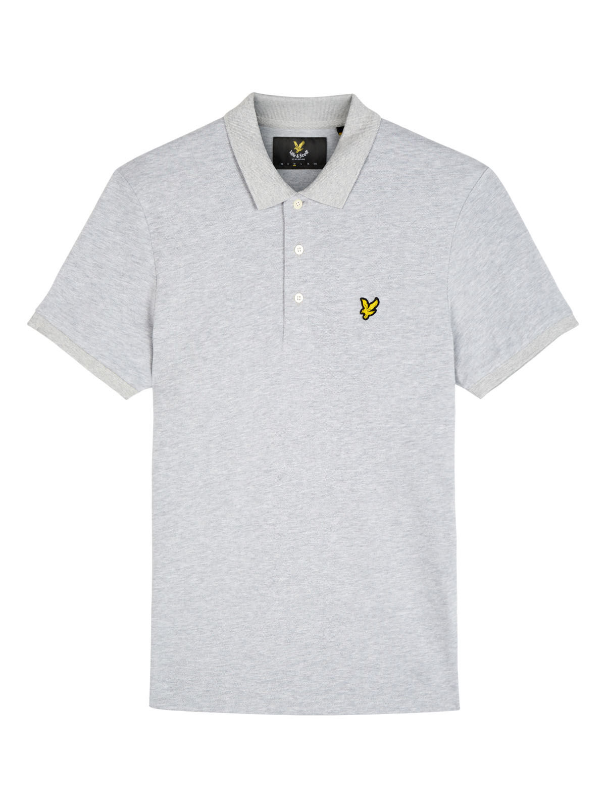 Lyle and Scott Light Grey Marl Marl Polo Shirt
