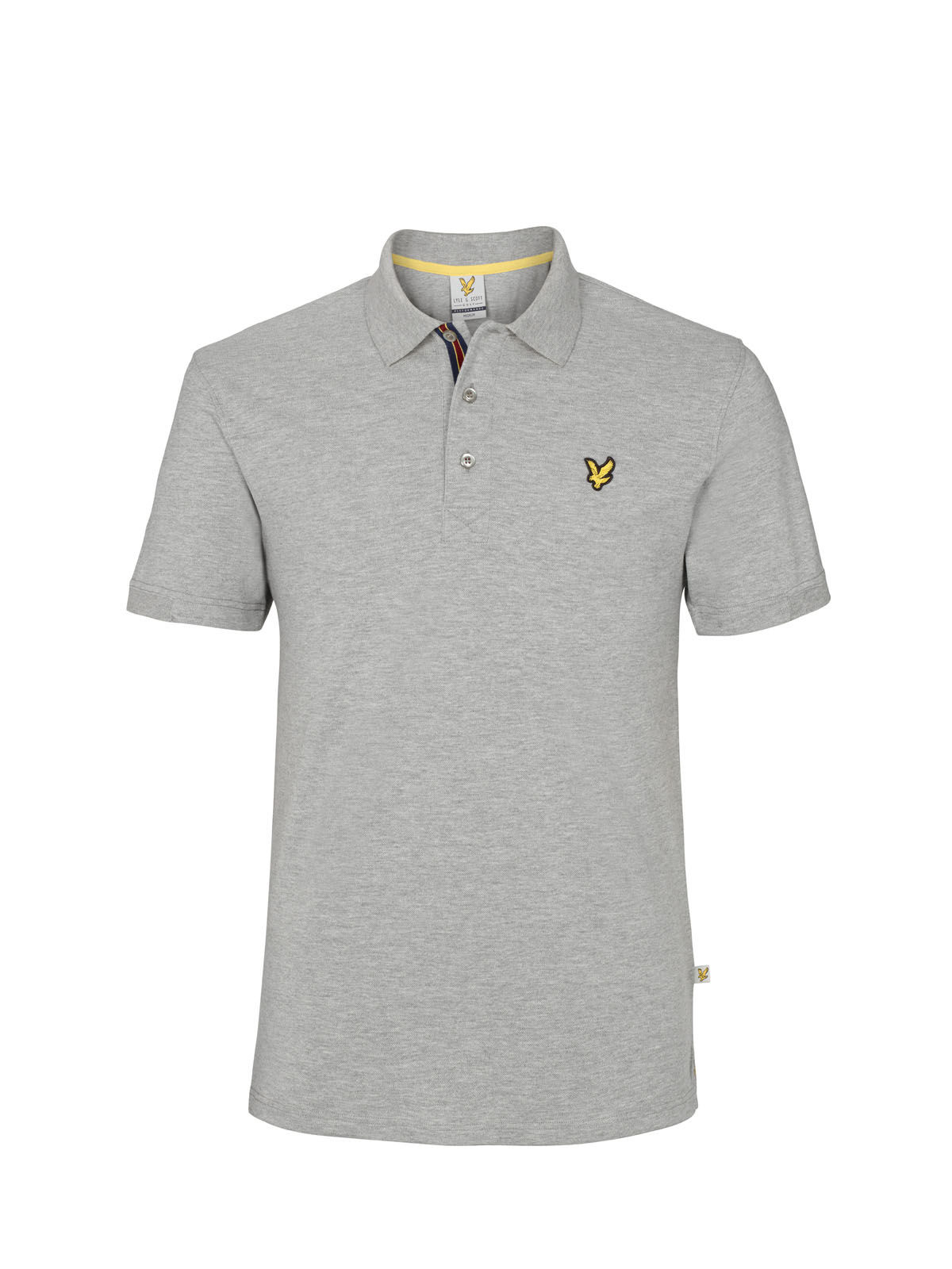 Lyle and Scott Light Grey Marl Kelso Golf Polo Shirt