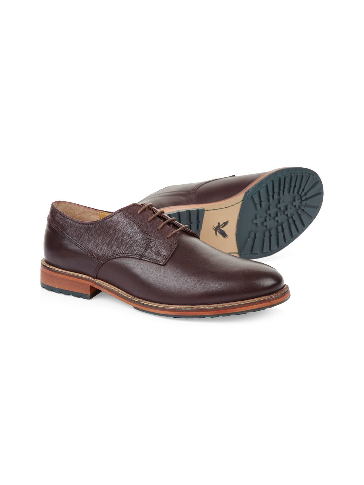 Lyle and Scott BURGUNDY Keltie Leather Brogues