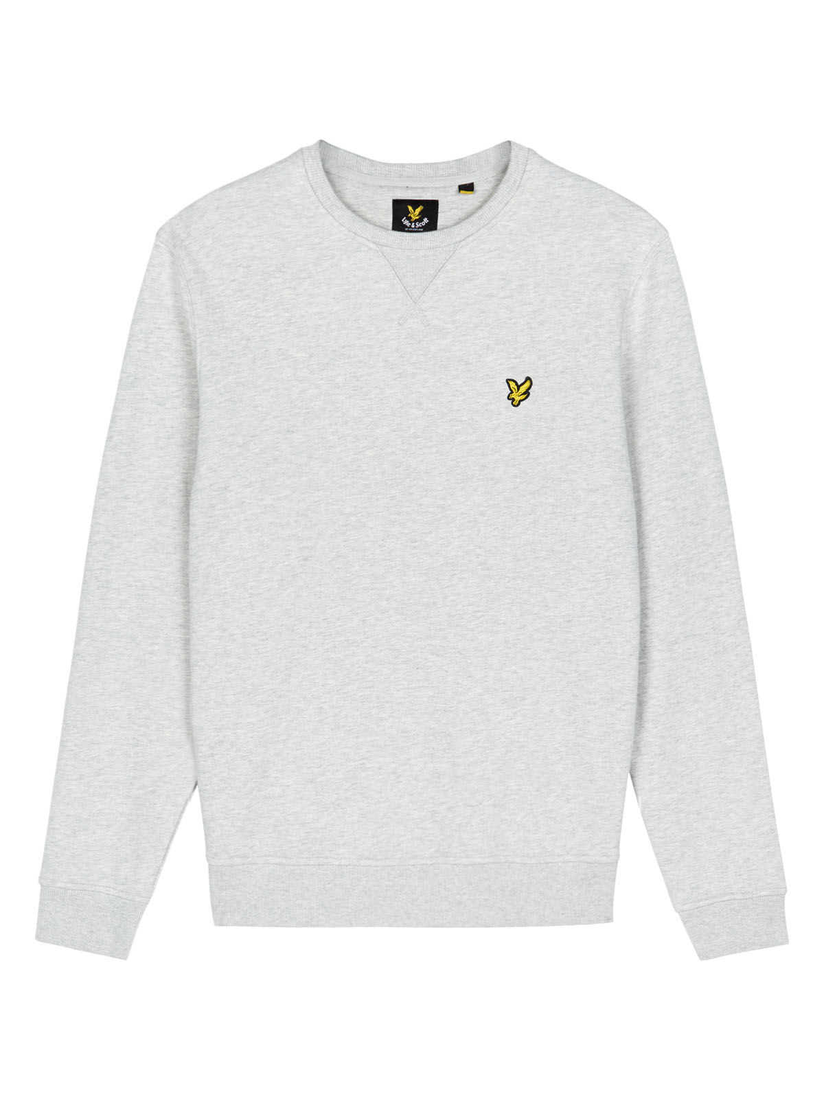 Lyle and Scott Light Grey Marl Crew Neck Sweatshirt