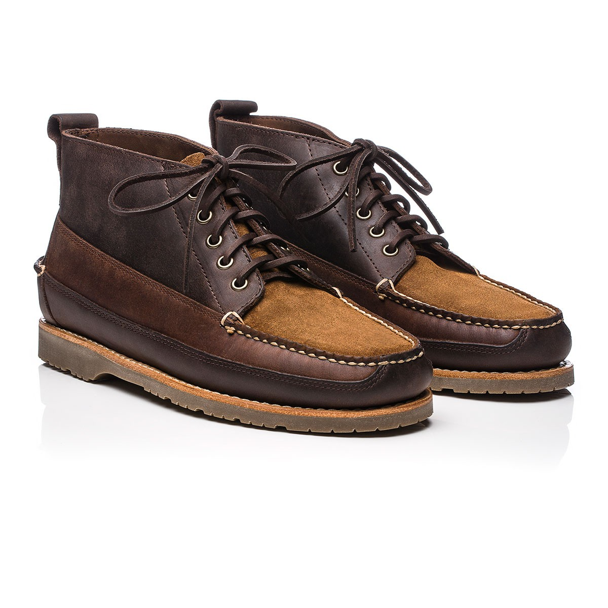G.H. Bass & Co. Camp Moc II Ranger Mix Dark Brown Leather