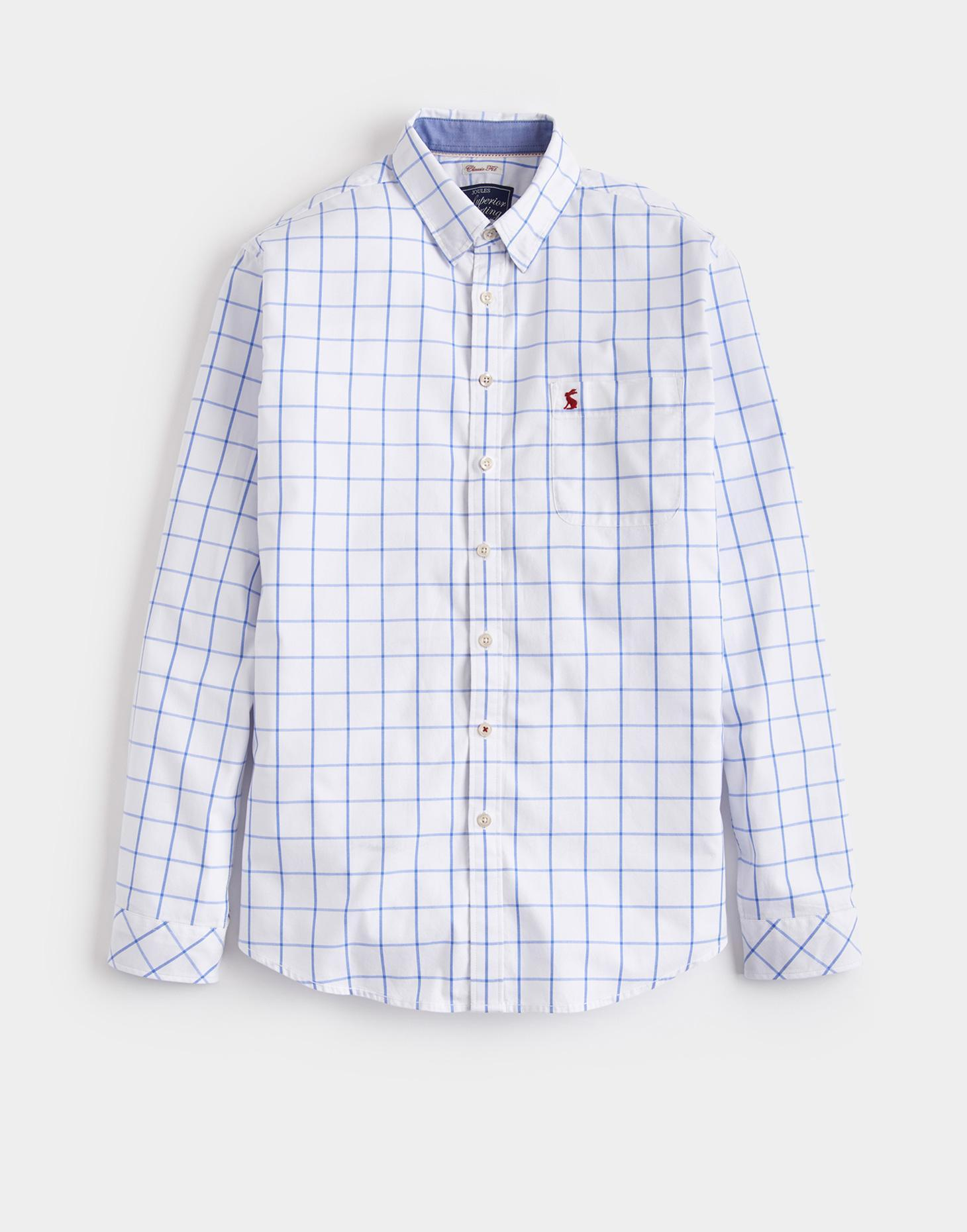 Joules Blue Over Check WELFORD Classic Fit Shirt
