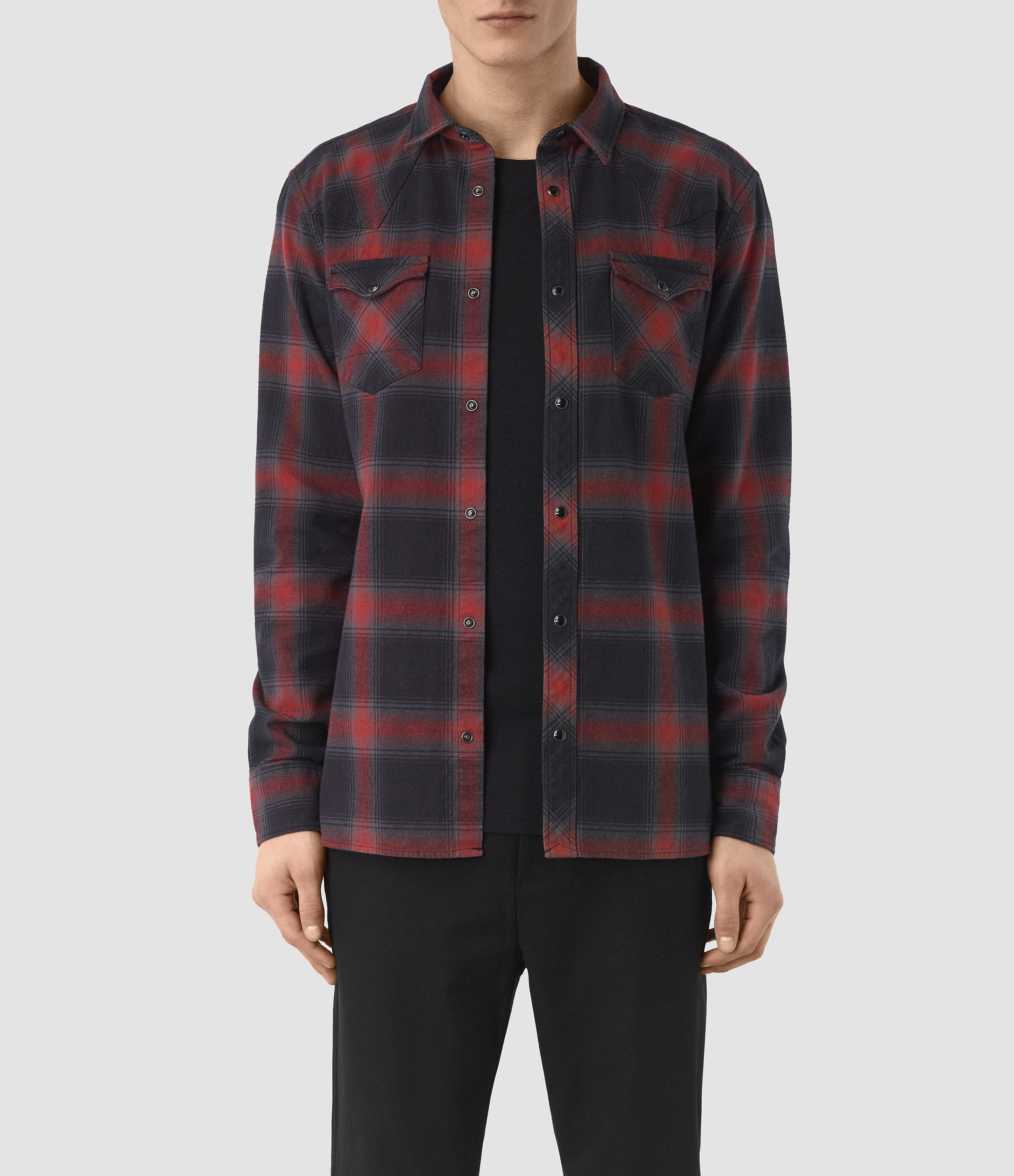 AllSaints Red Nook Shirt