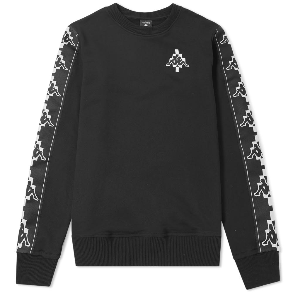 Marcelo Burlon Black & White x Kappa Tape Crew Sweat