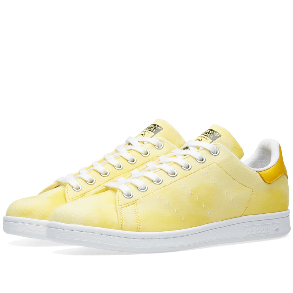 Adidas White & Yellow x Pharrell Williams Hu Holi Stan Smith