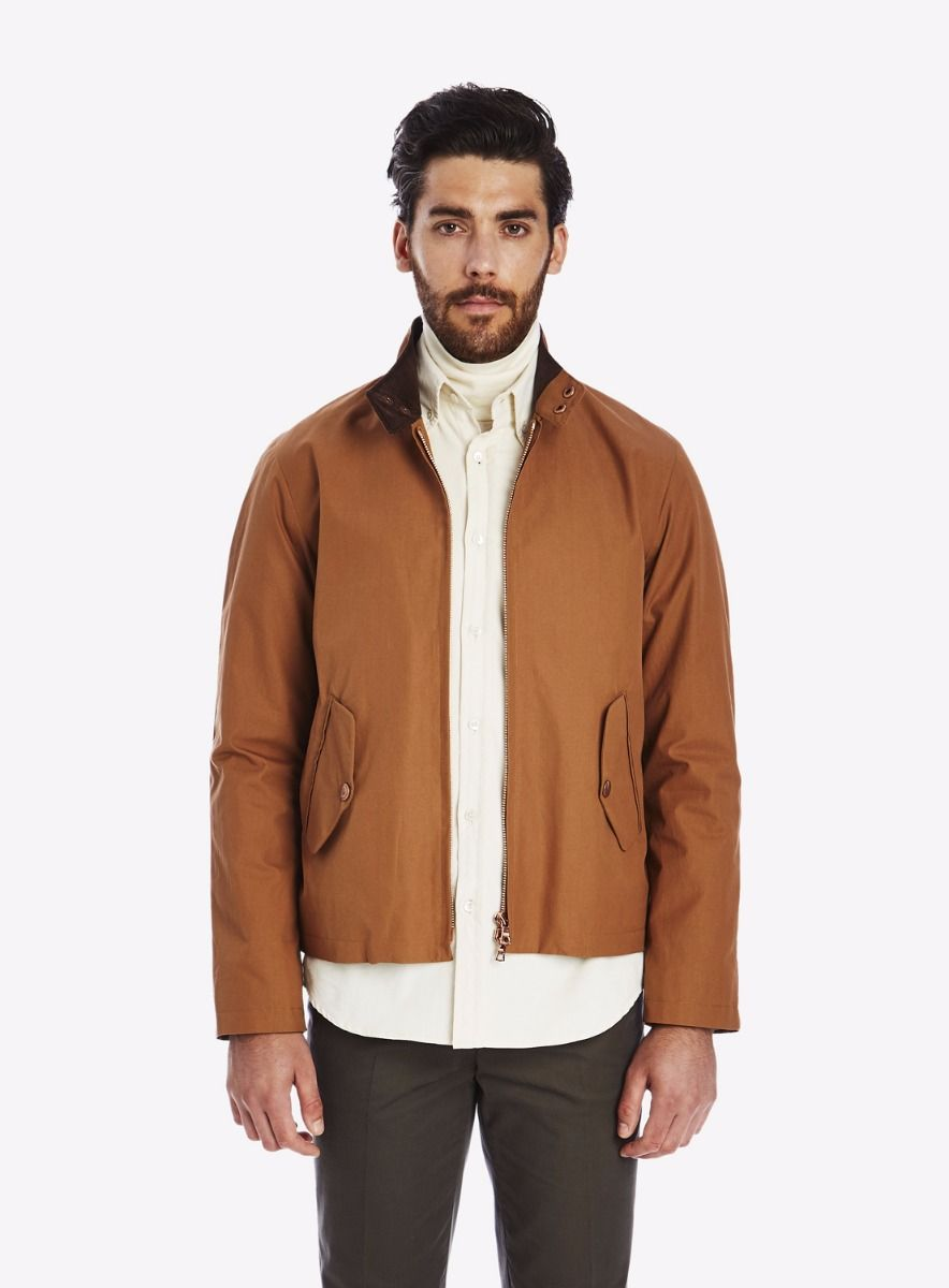 Private White V.C. Cinnamon Cotton Ventile® Harrington Jacket