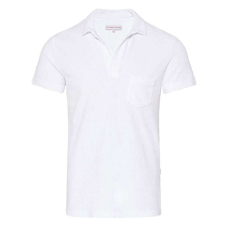 Orlebar Brown TERRY TOWELLING White Towelling Resort Polo